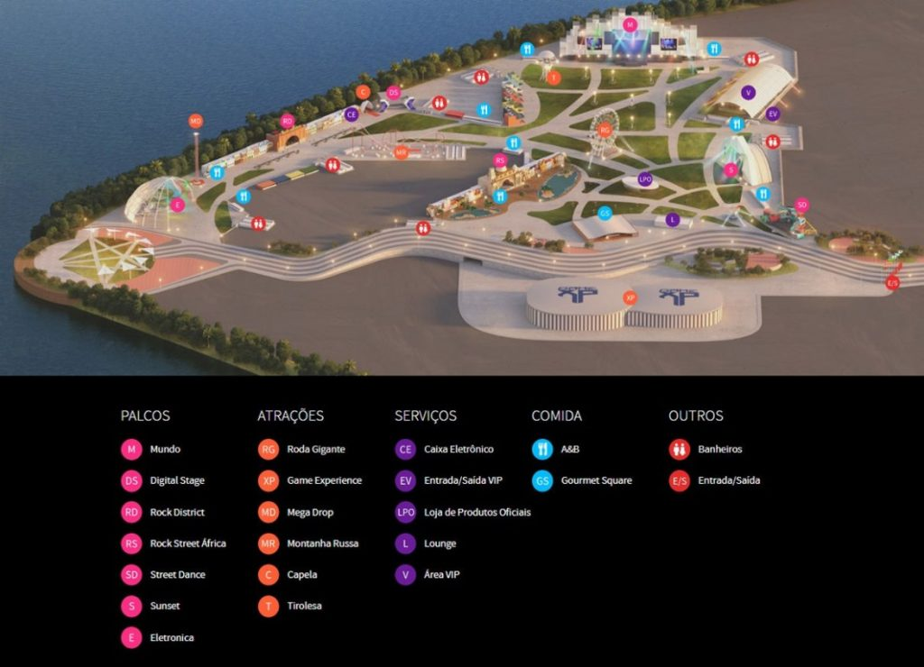 Mapa do Rock in Rio