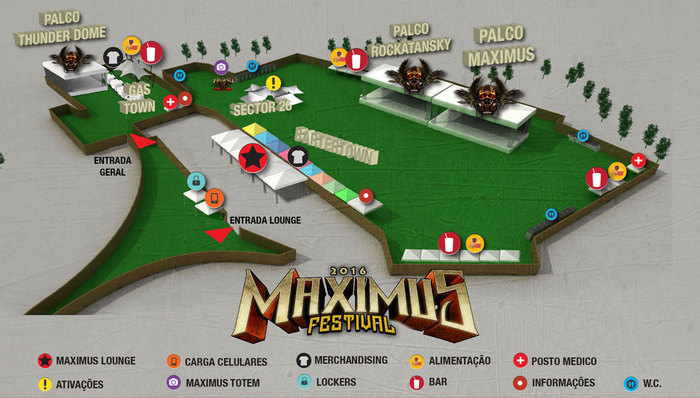 Localização do Maximus Festival